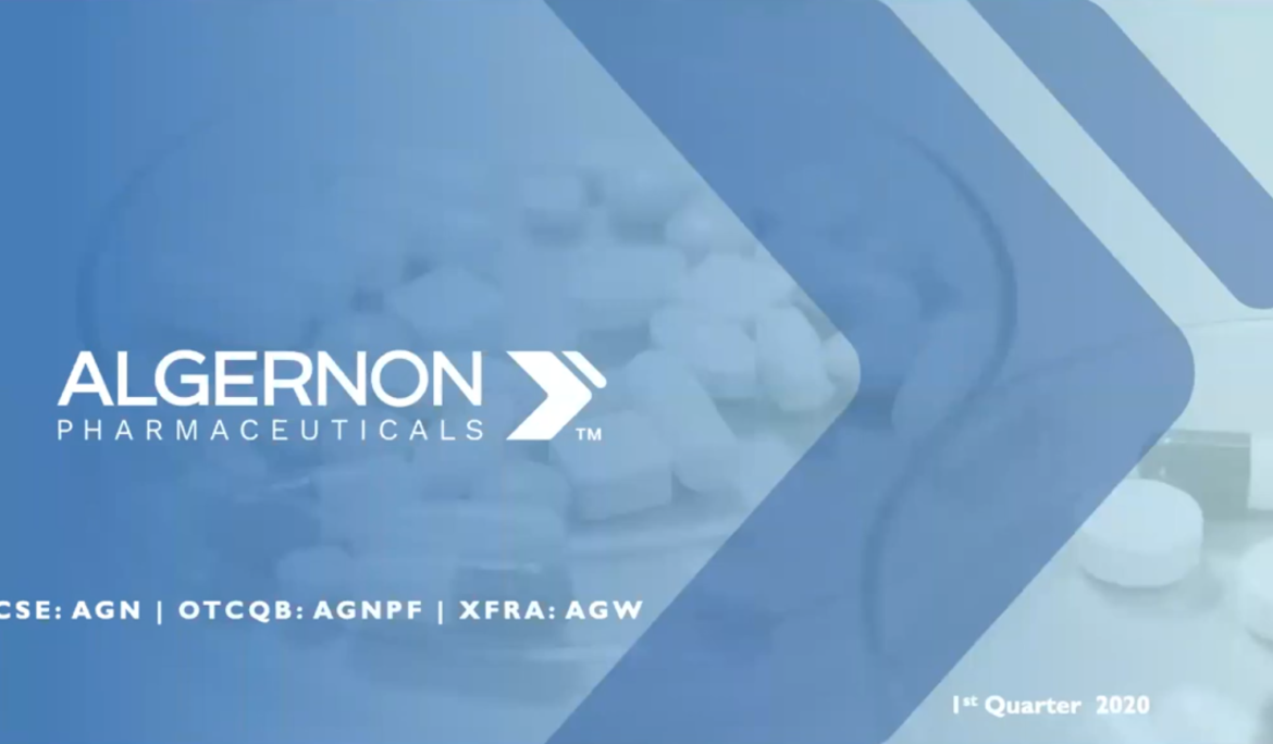 WEBCAST: BioPub.co Presents: Algernon Pharmaceuticals (CSE: AGN   OTCQB: AGNPF)