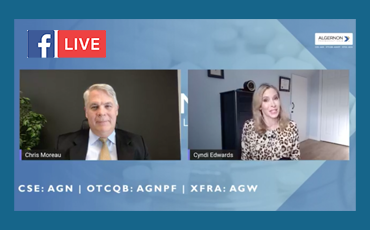 Facebook Live – Algernon Pharmaceuticals Update with CEO Christopher Moreau